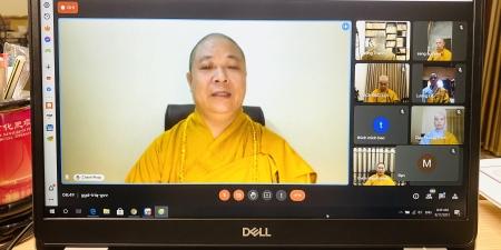 Ban Trị sự GHPGVN tỉnh Ninh Bình tổ chức khóa hành đạo An cư kiết hạ trực tuyến