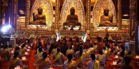 Hà Nam: Lễ cầu Quốc thái Dân an – Thắp nến tri ân các Anh hùng liệt sĩ tại chùa Tam Chúc