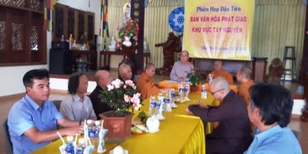 Ban Văn Hóa Phật giáo Khu vực Tây Nguyên tổ chức phiên họp đầu tiên