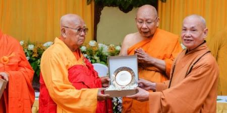 TP.HCM: Trung ương Giáo hội tiếp đoàn Phật giáo Thái Lan
