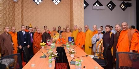 Lào: Trung ương GHPGVN thăm thân mật Liên minh Trung ương Phật giáo Lào