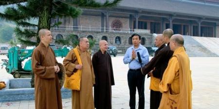 Trung ương Giáo hội khảo sát tiến độ thi công chùa Tam Chúc, Hà Nam – nơi diễn ra Đại lễ Vesak LHQ 2019