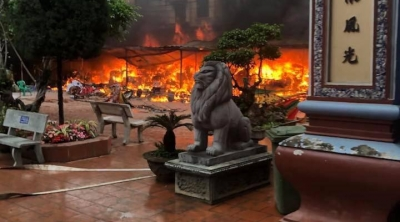 Cháy lớn tại đền Mẫu Thượng - Đồng Đăng Lạng Sơn