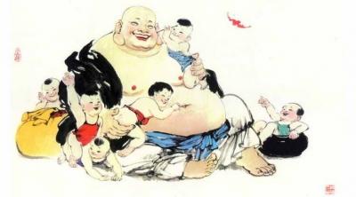 Ý nghĩa sáu đứa bé trên thân Phật Di Lặc