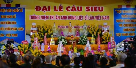 Lào: Tưởng niệm tri ân anh hùng liệt sĩ quân tình nguyện Việt Nam