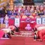 3 đôi tân hôn làm lễ hằng thuận tại chùa Hà