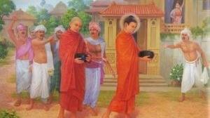 Bản tính keo kiệt trỗi dậy, người đàn bà lén đổ thêm nước dơ uế vào bát cúng dường Phật và chịu quả báo
